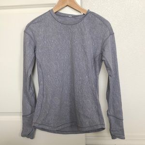 Purplish-gray Lululemon long sleeve